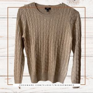 TALBOTS Gold Shimmer Sweater Size Small Petite